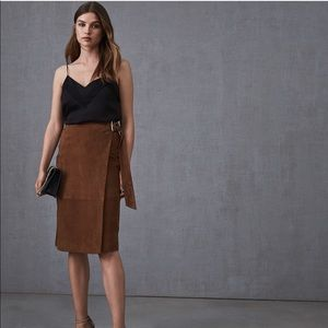 Reiss Milly Suede Midi Skirt